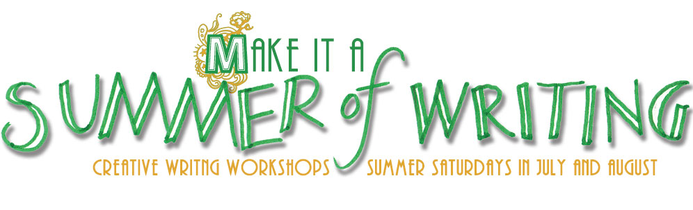 Summer of Writing creative writing workshops on Saturdays in July and August